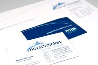 Corporate Design für Horst Micket Interim Manager