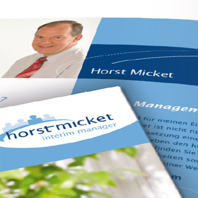 Corporate Design for an interim manager