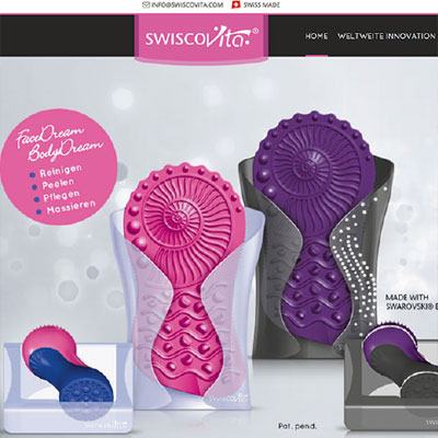 Website for wellness and healthcare brushes made of silicone with Responsive Design