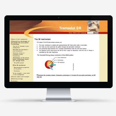 International trade business portal for a pharmaceutical company