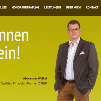Website for a financial consultancy