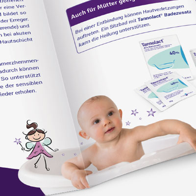 Patient brochure for a dermatological product line