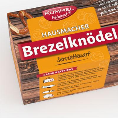 Packaging design for pretzel dumplings