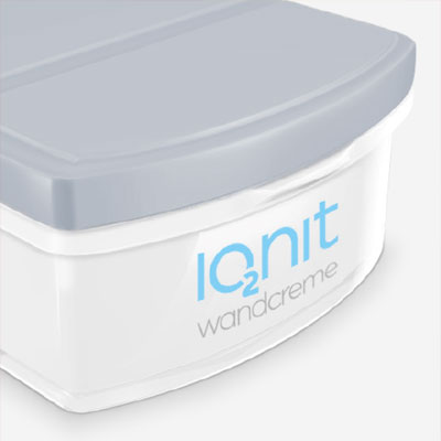 Packaging design and POS display for IONIT wall cream