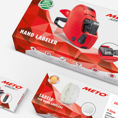 Packaging design for hand labeler and supplies