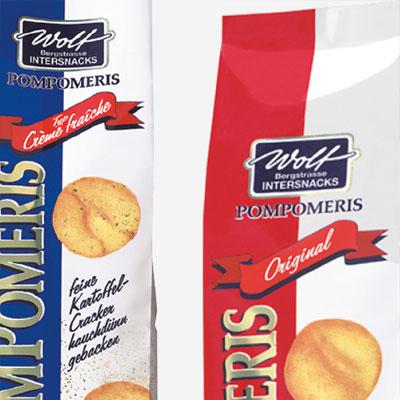 Packaging design for premium potato crackers