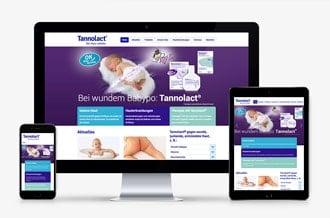 Webseite für eine apothekenpflichtige Medikamentenserie