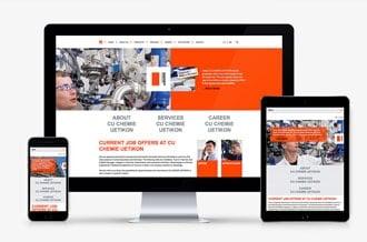 Website für ein Chemieunternehmen