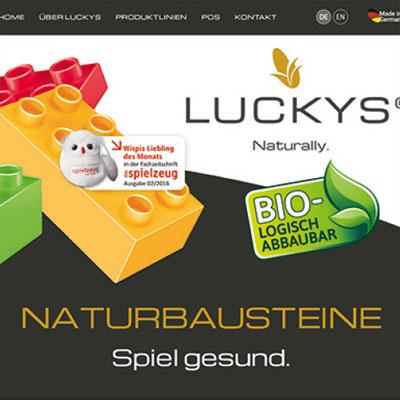 Website für biologisch abbaubare Bausteine im Responsive Design