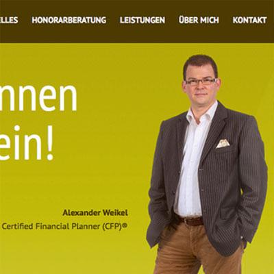 Website für einen Finanz- und Honorarberater