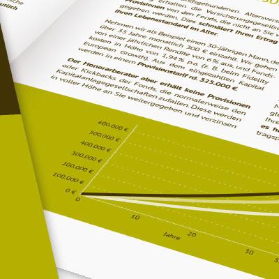 Imagebroschüre für einen Finanz- und Honorarberater