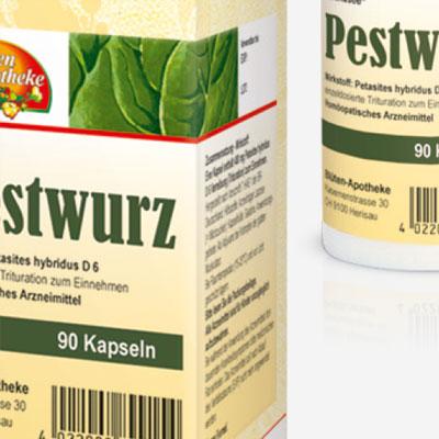Verpackungsdesign für homöopathische Arzneimittel
