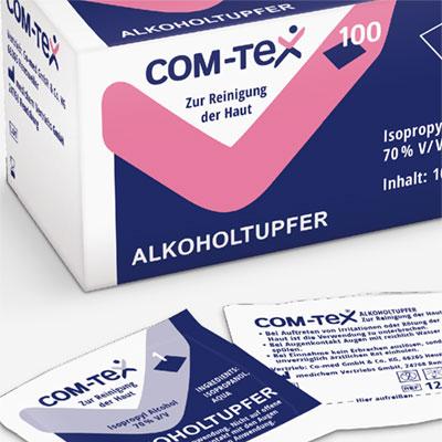Verpackungsdesign für ein Serie an medizinischen Produkten