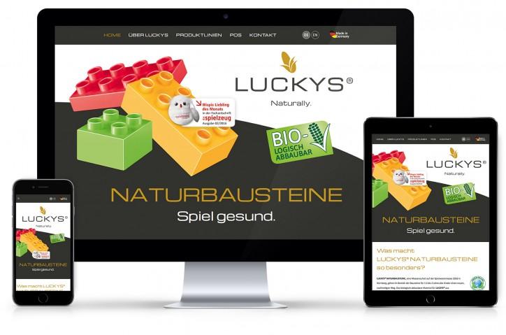 Showcase Website Luckys im responsive Design