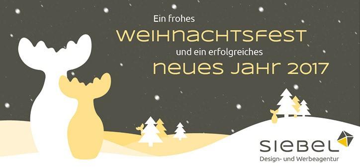 Wir wünschen frohe Weihnachten und ein gutes neues Jahr! - Siebel GmbH