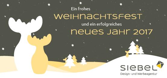 Siebel wünscht frohe Weihnachten