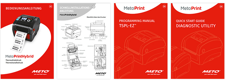 Auswahl an Meto Print Manuals