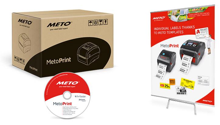 Verpackungskarton, CD und Display für Meto Print