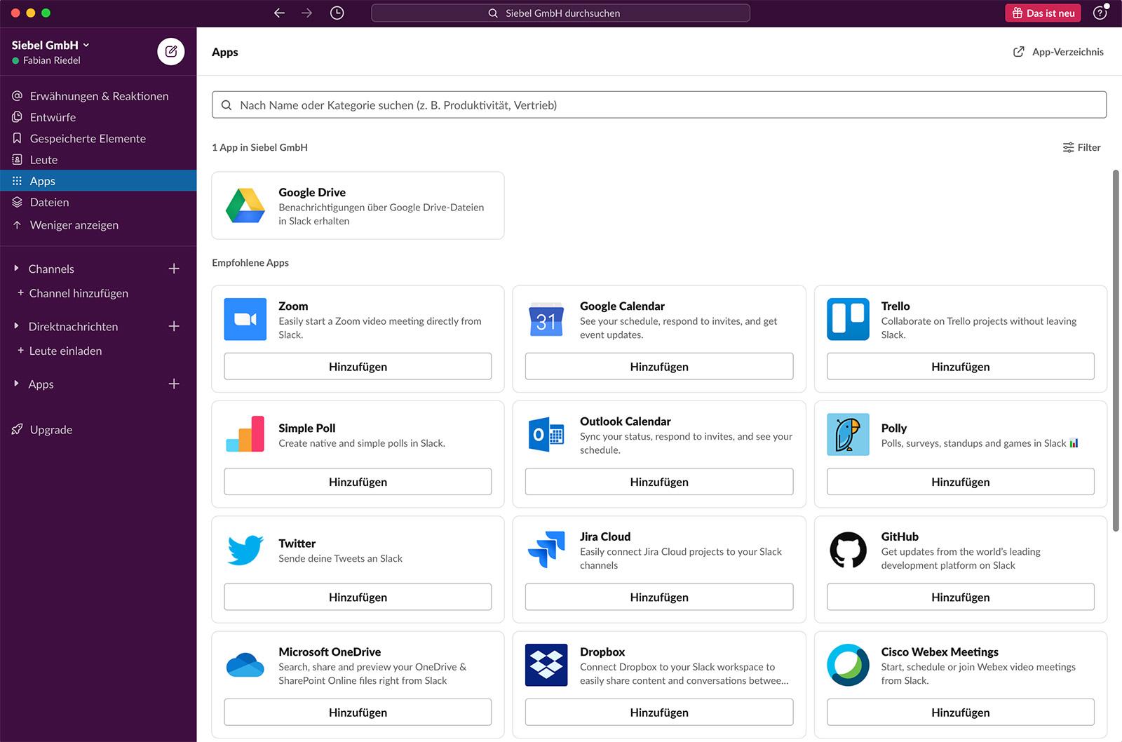 Screenshot Slack